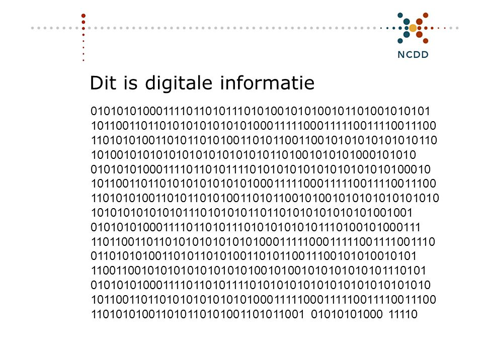 Dit is digitale informatie