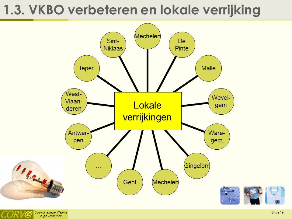 E-Idee 1.3. VKBO verbeteren en lokale verrijking Lokale verrijkingen
