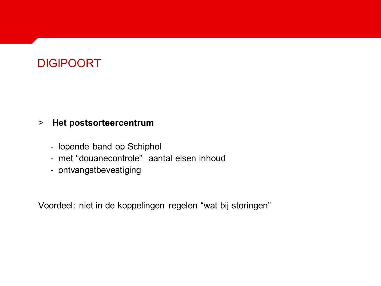 DIGIPOORT Het postsorteercentrum - lopende band op Schiphol