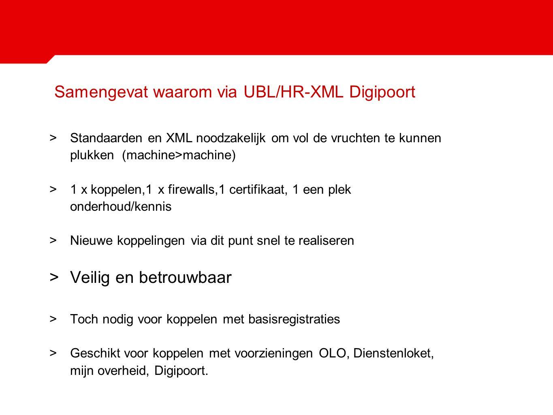 Samengevat waarom via UBL/HR-XML Digipoort