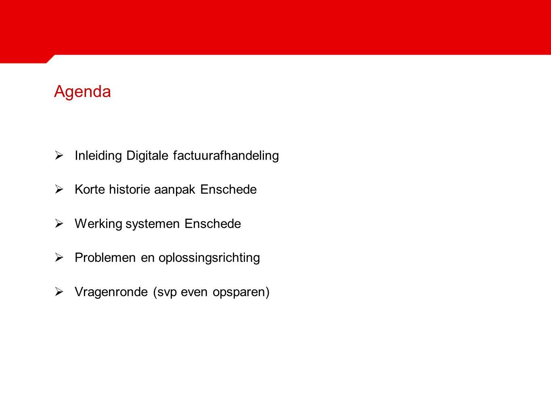 Agenda Inleiding Digitale factuurafhandeling