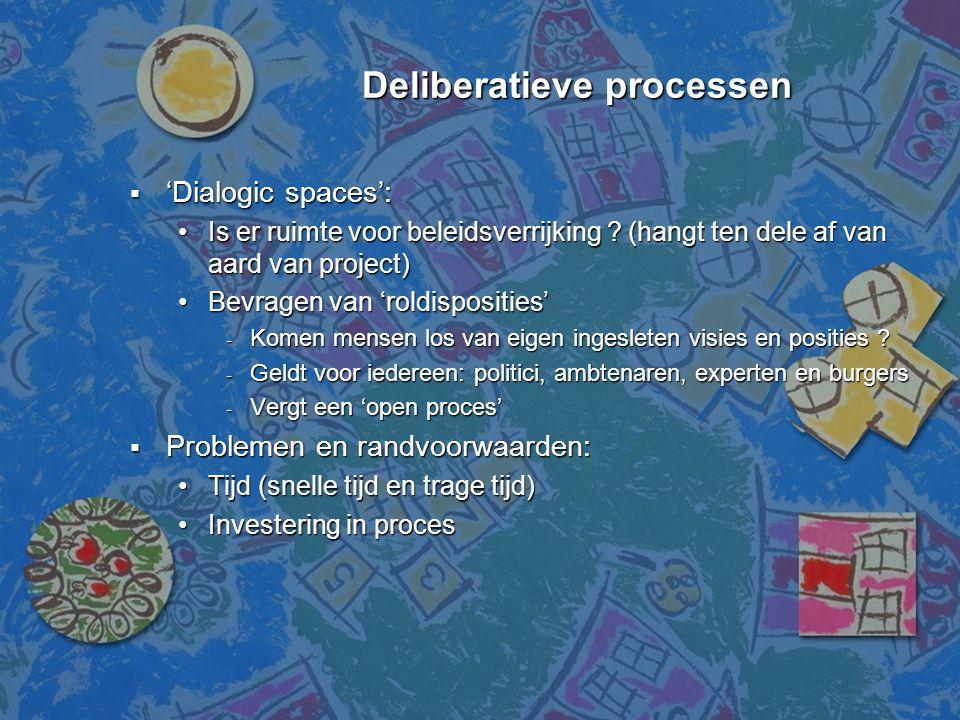 Deliberatieve processen