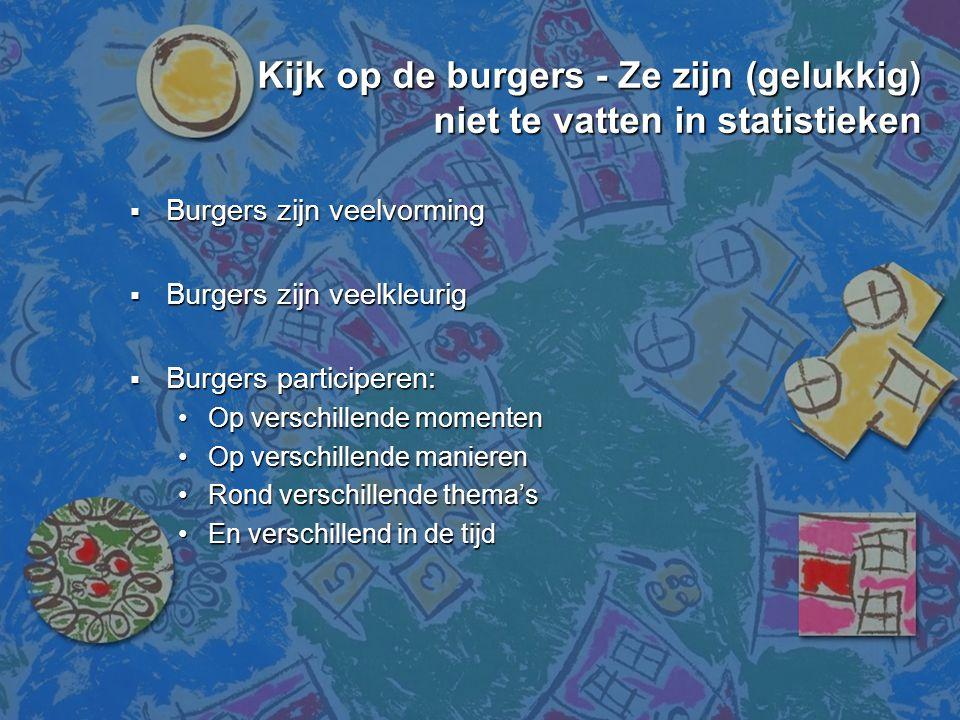 Kijk op de burgers - Ze zijn (gelukkig) niet te vatten in statistieken