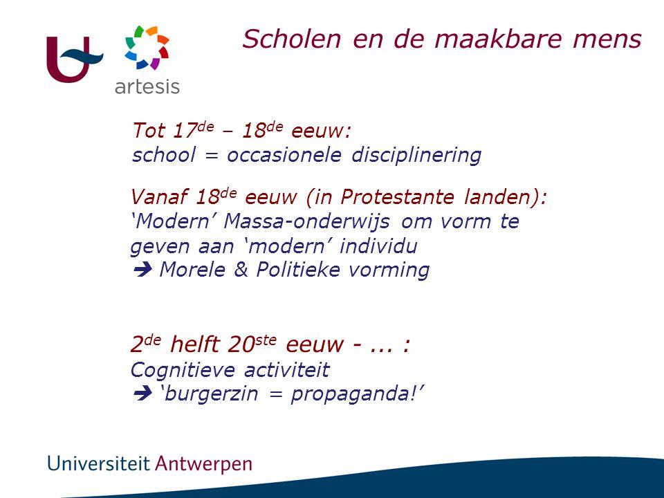 Dynamieken die onderwijs boetseerden in België