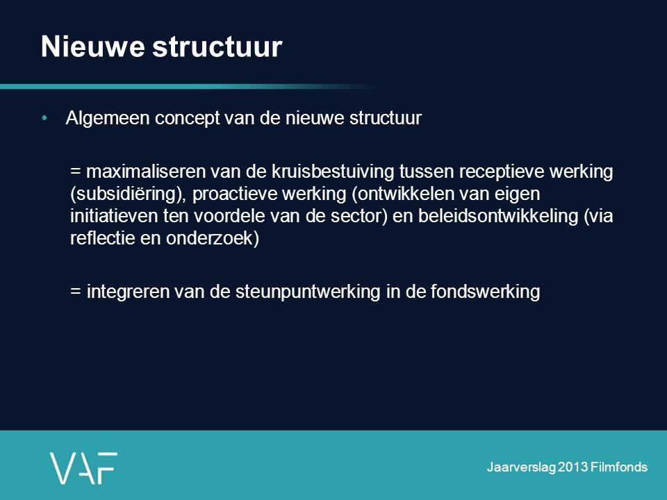 Nieuwe structuur Algemeen concept van de nieuwe structuur