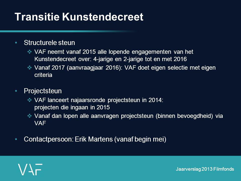 Transitie Kunstendecreet