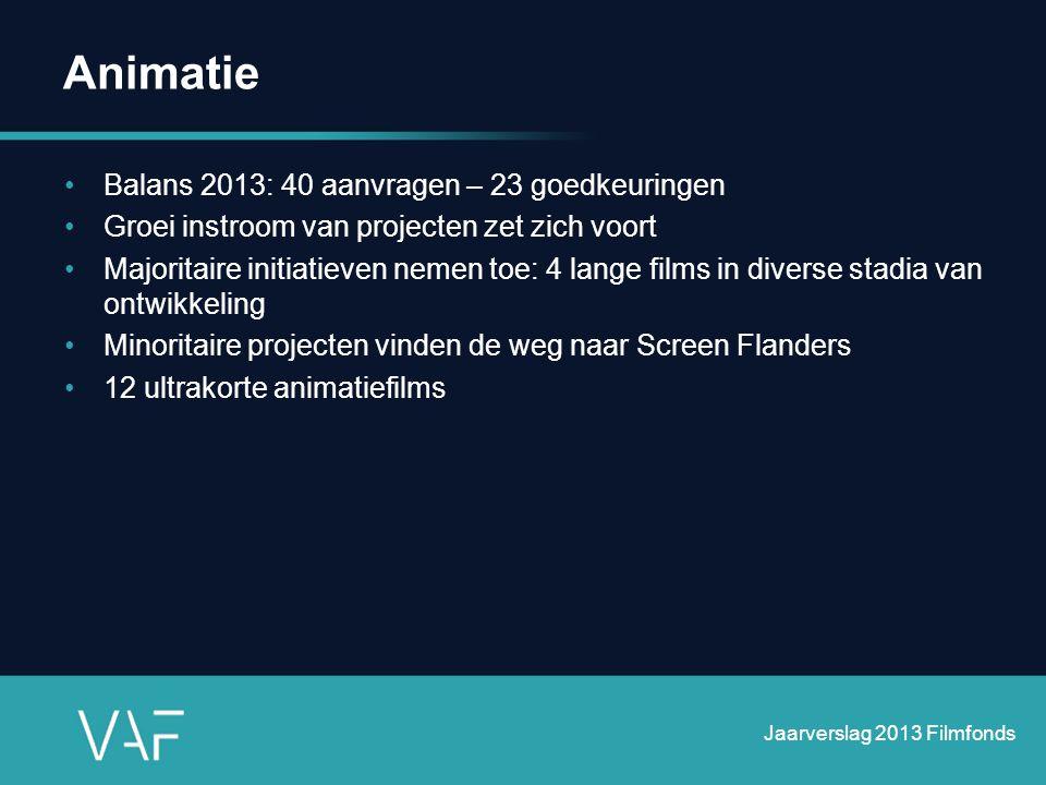 Animatie Balans 2013: 40 aanvragen – 23 goedkeuringen