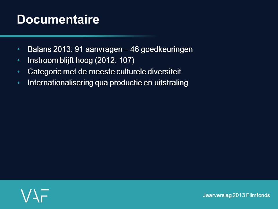Documentaire Balans 2013: 91 aanvragen – 46 goedkeuringen