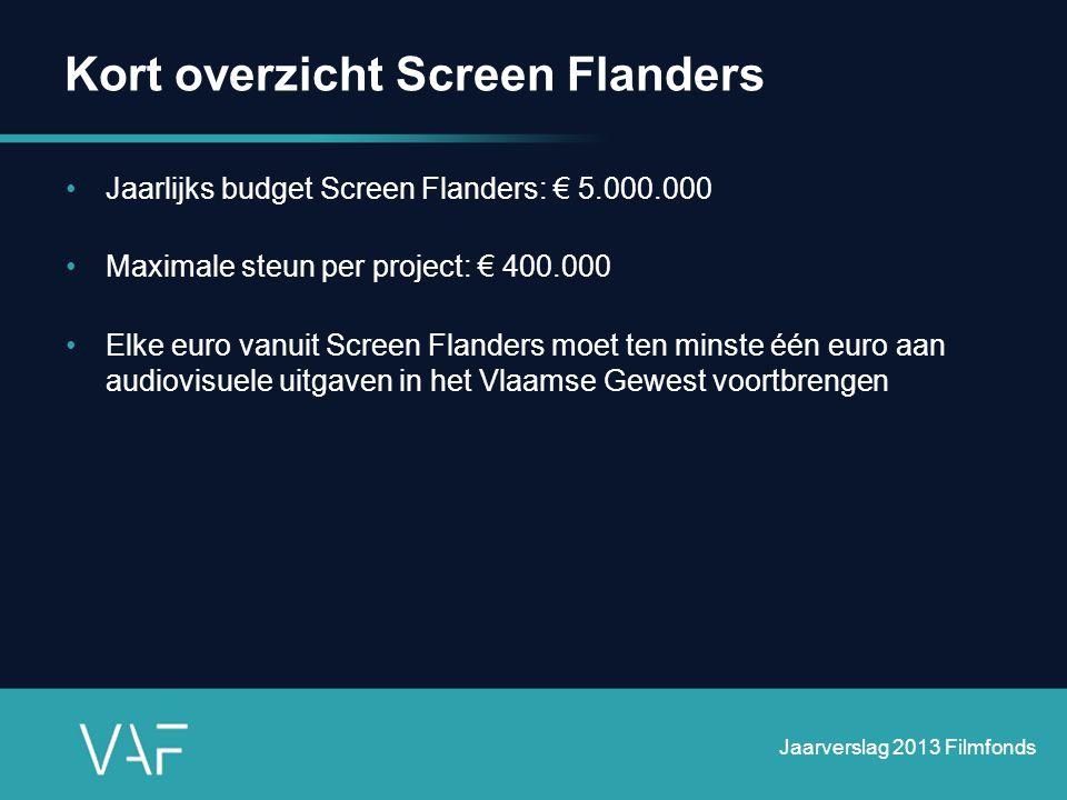 Kort overzicht Screen Flanders
