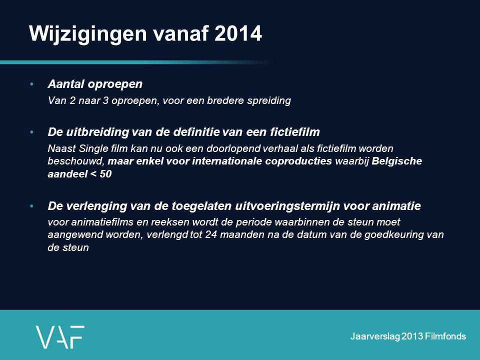 Wijzigingen vanaf 2014 Aantal oproepen