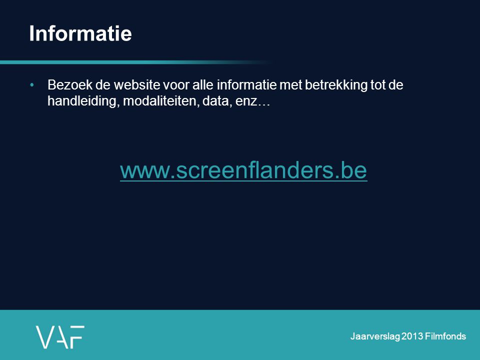 www.screenflanders.be Informatie