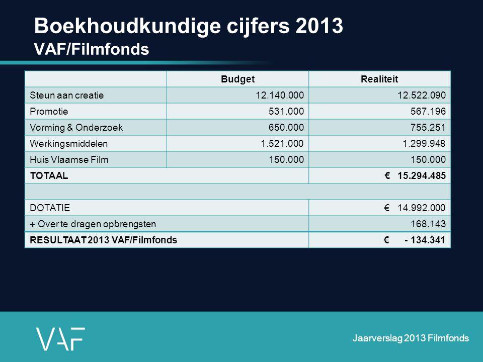 Boekhoudkundige cijfers 2013 VAF/Filmfonds