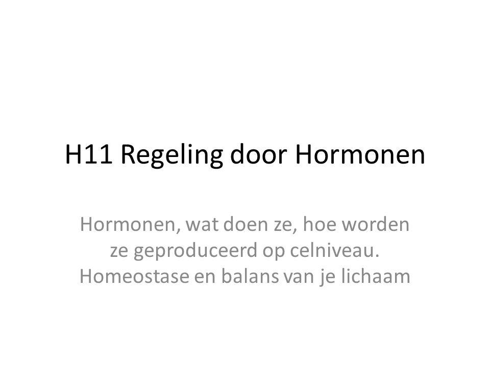 H11 Regeling door Hormonen
