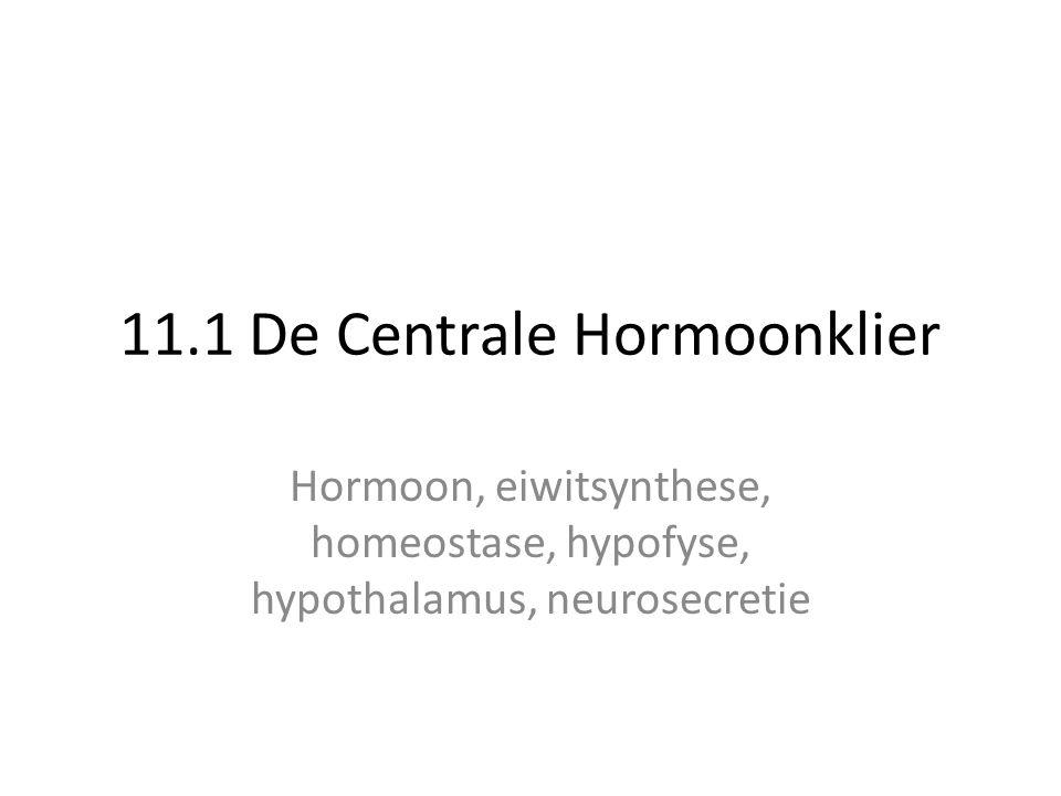11.1 De Centrale Hormoonklier