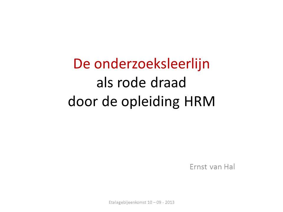 De onderzoeksleerlijn als rode draad door de opleiding HRM