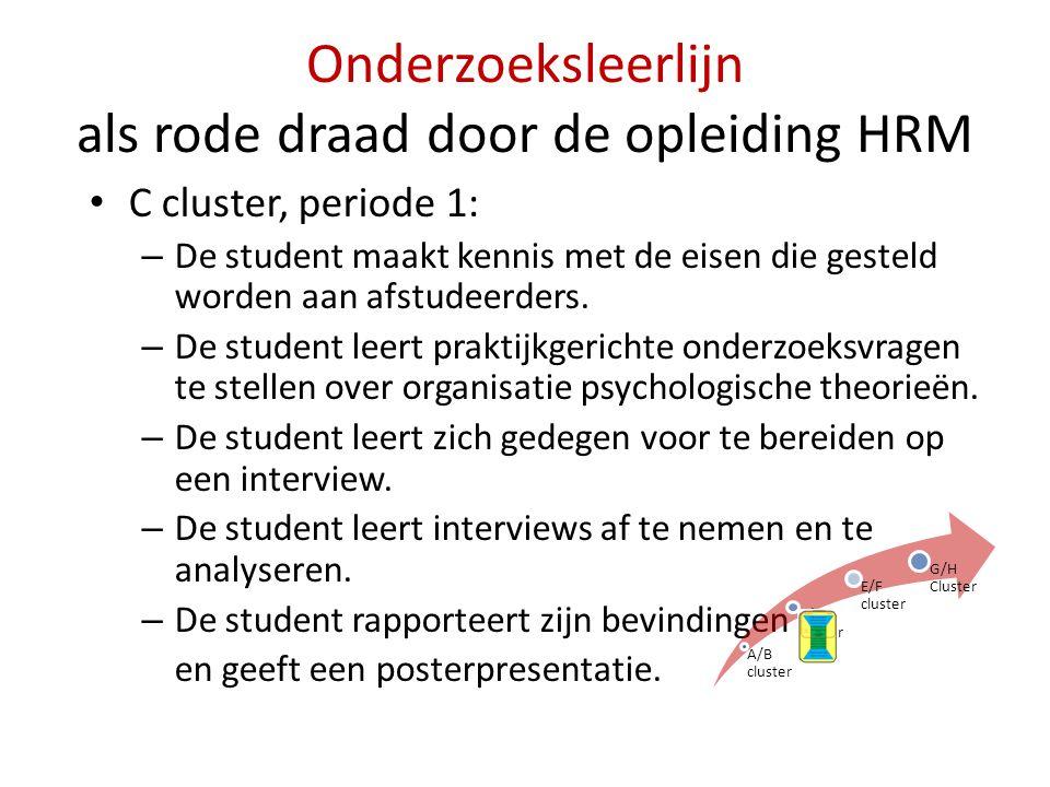 Onderzoeksleerlijn als rode draad door de opleiding HRM