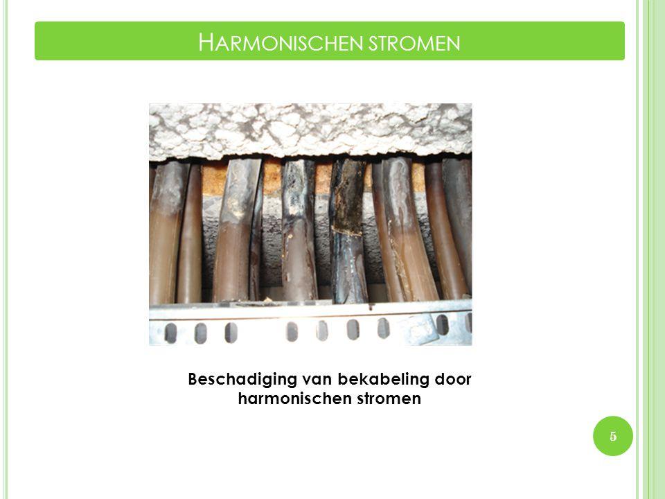 Beschadiging van bekabeling door harmonischen stromen