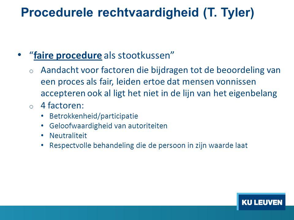 Procedurele rechtvaardigheid (T. Tyler)