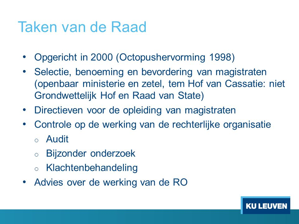 Taken van de Raad Opgericht in 2000 (Octopushervorming 1998)