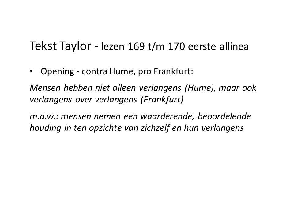 Tekst Taylor - lezen 169 t/m 170 eerste allinea