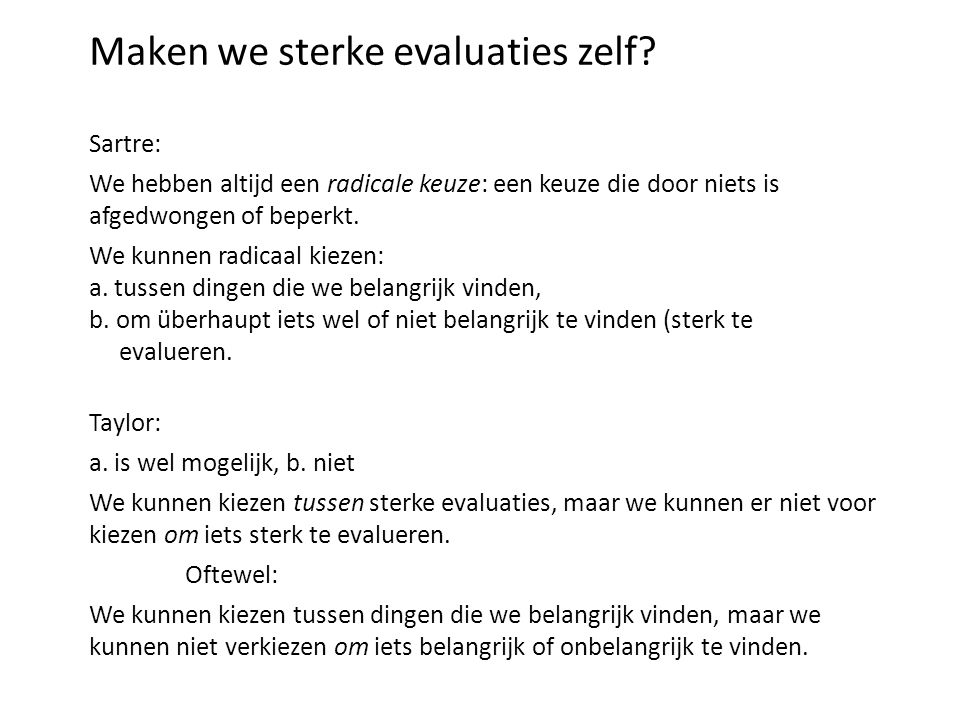 Maken we sterke evaluaties zelf