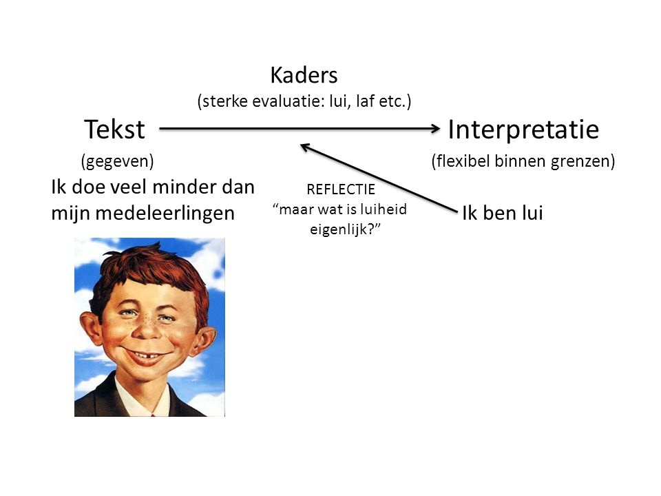 (sterke evaluatie: lui, laf etc.)