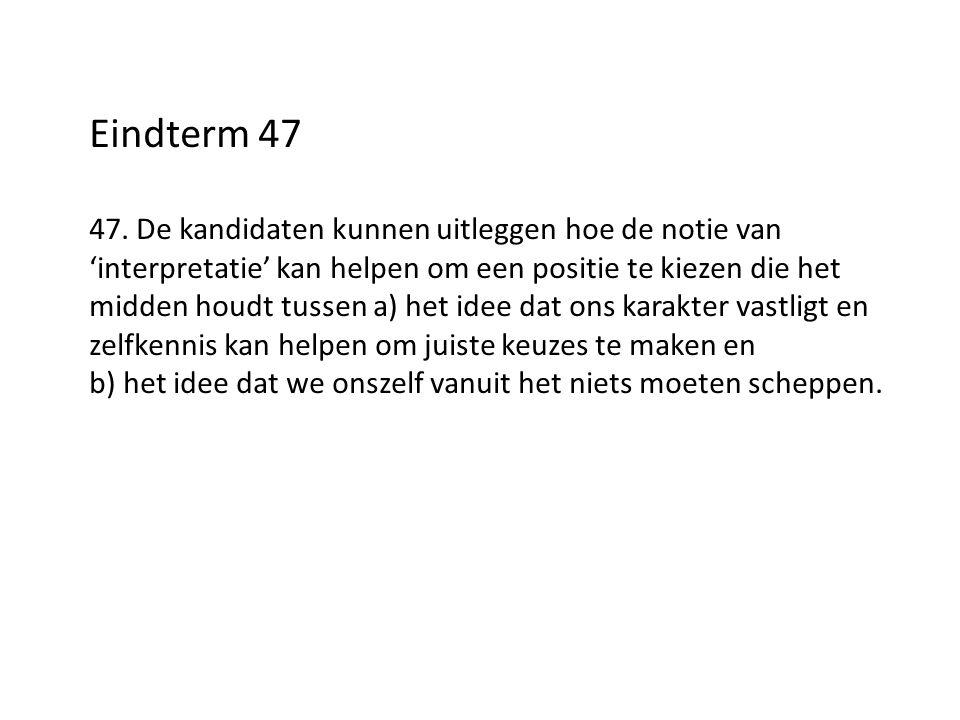Eindterm 47