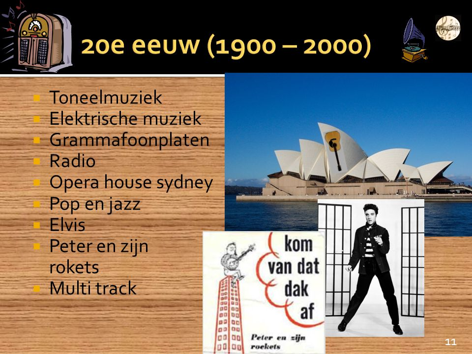 20e eeuw (1900 – 2000) Toneelmuziek Elektrische muziek