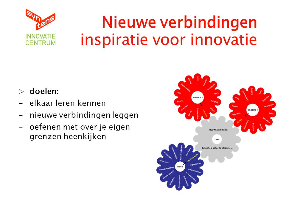 Nieuwe verbindingen inspiratie voor innovatie