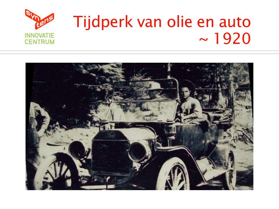Tijdperk van olie en auto ~ 1920