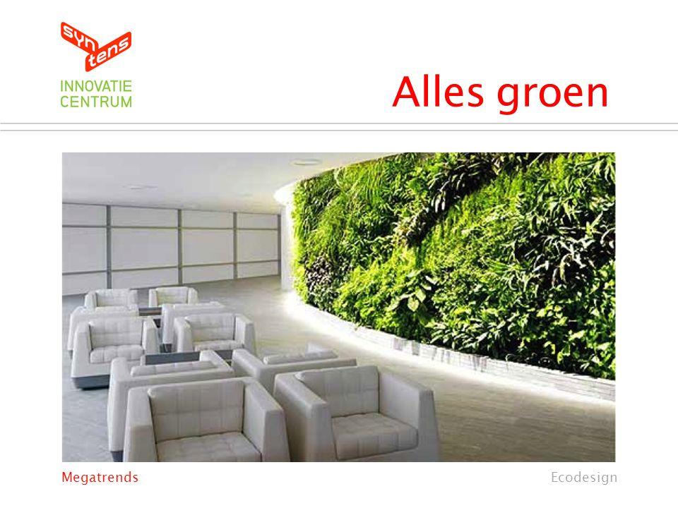 Alles groen Megatrends Ecodesign