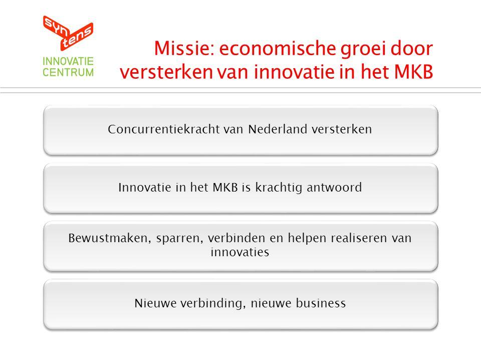 Missie: economische groei door versterken van innovatie in het MKB