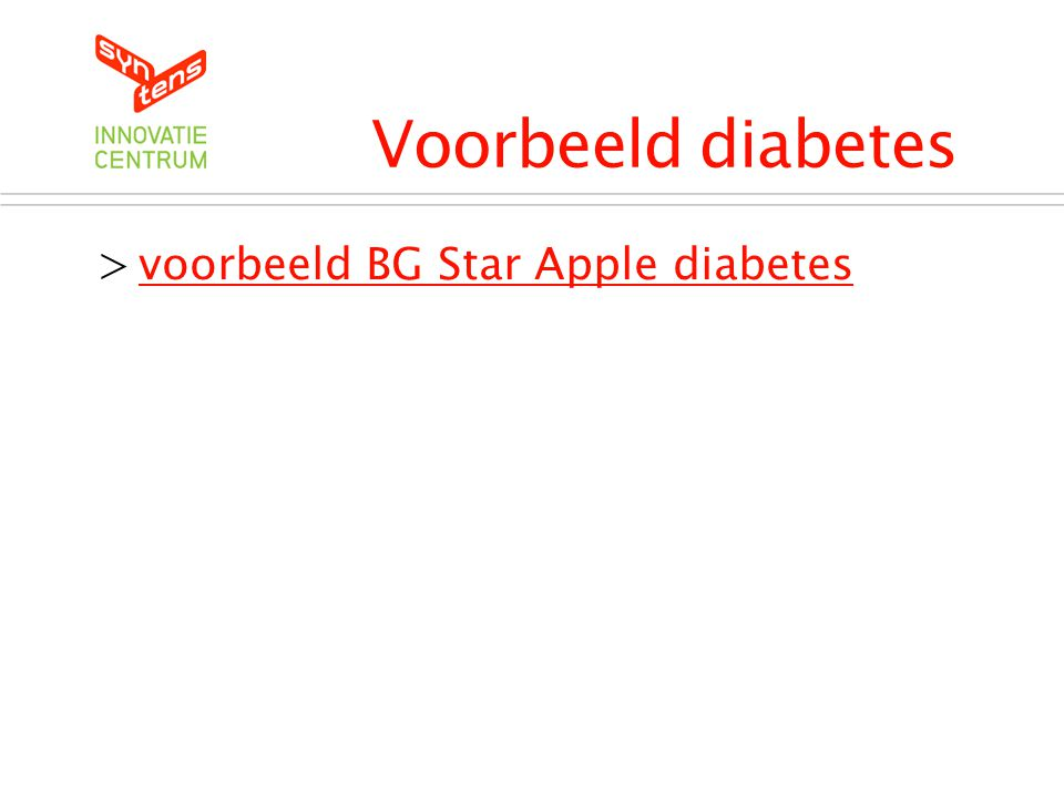 Voorbeeld diabetes voorbeeld BG Star Apple diabetes