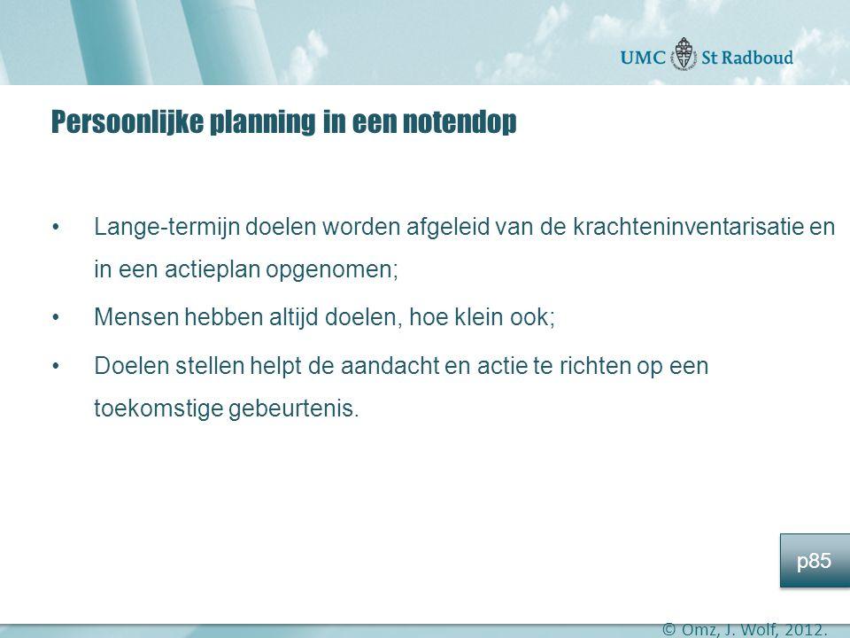 Persoonlijke planning in een notendop