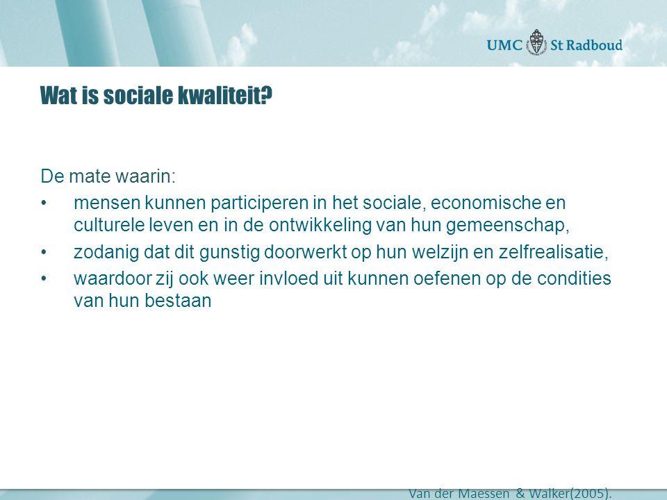 Wat is sociale kwaliteit