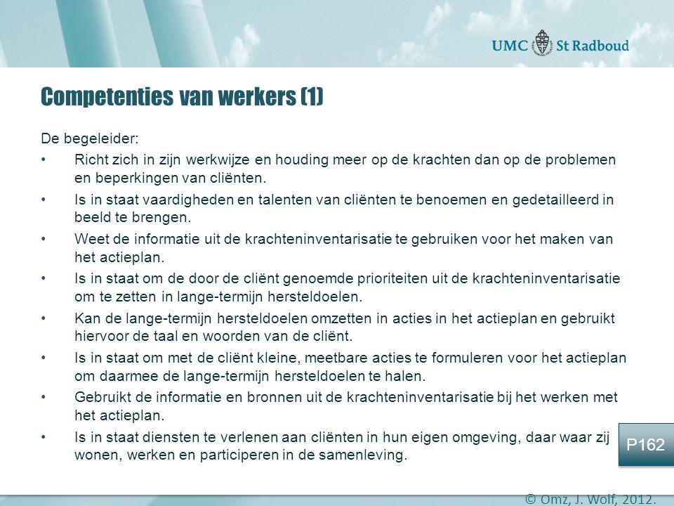 Competenties van werkers (1)