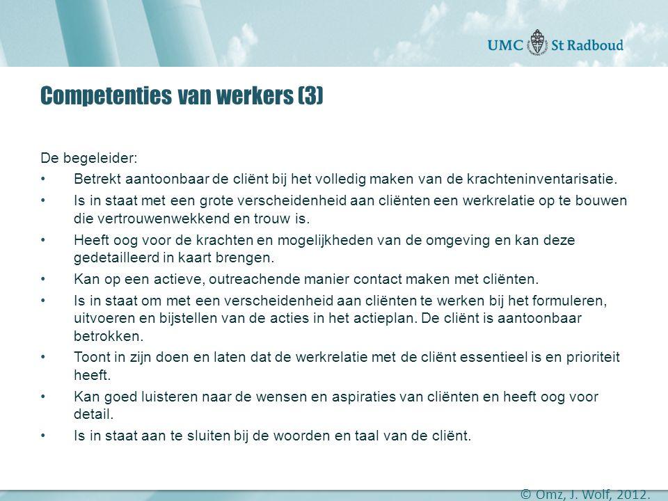 Competenties van werkers (3)