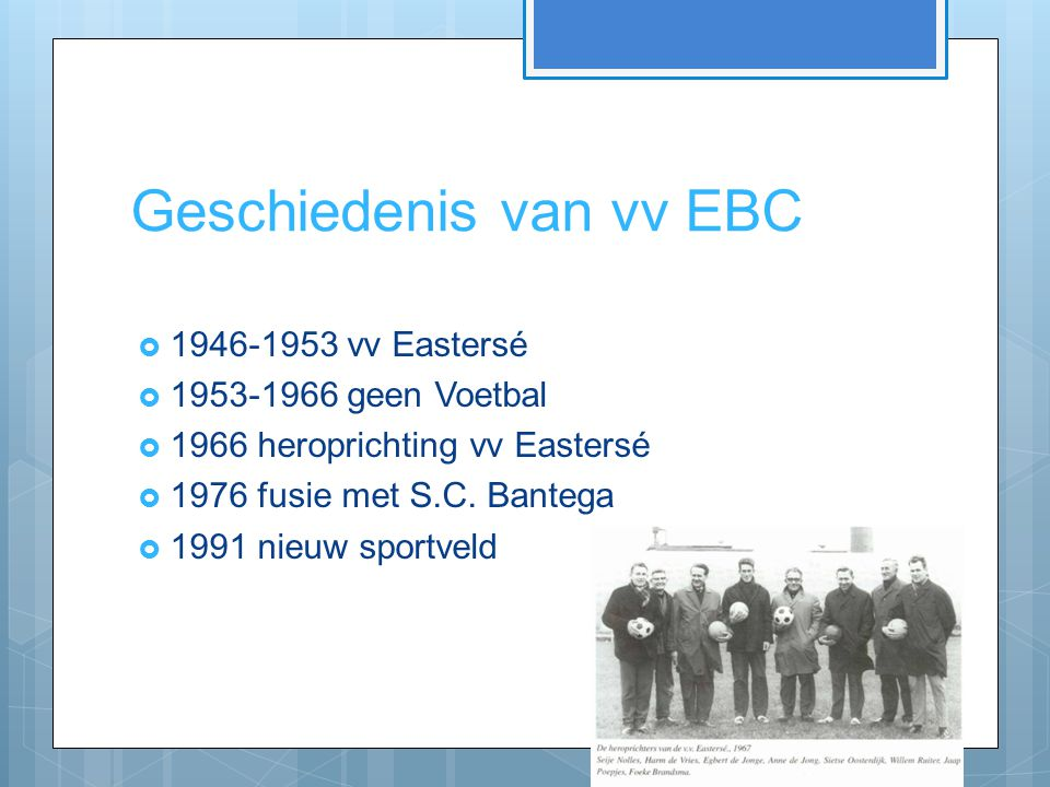 Geschiedenis van vv EBC