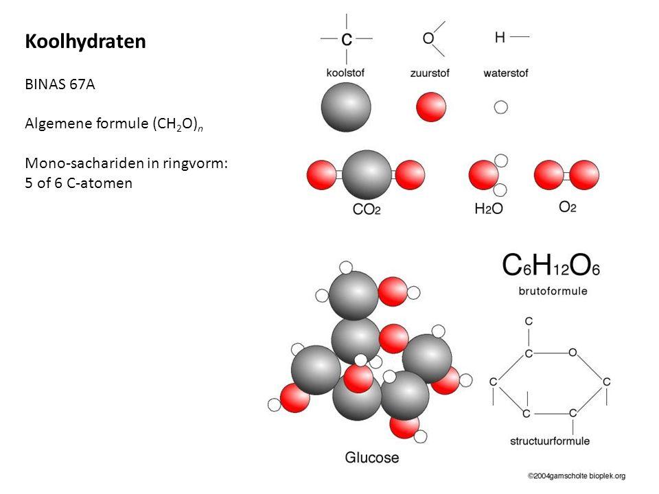 Koolhydraten BINAS 67A Algemene formule (CH2O)n