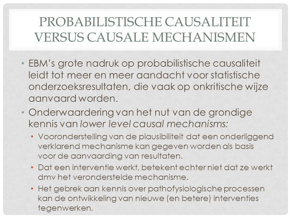 Probabilistische causaliteit versus causale mechanismen