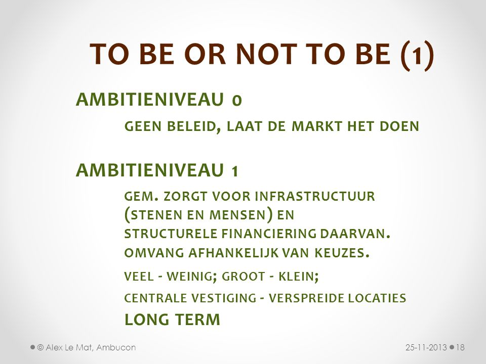TO BE OR NOT TO BE (1) AMBITIENIVEAU 0 AMBITIENIVEAU 1