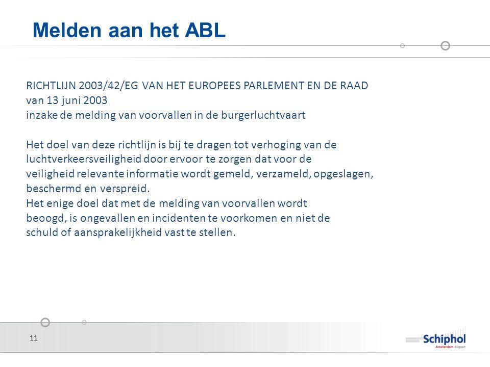 Melden aan het ABL