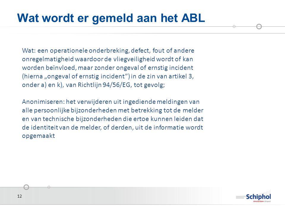 Wat wordt er gemeld aan het ABL