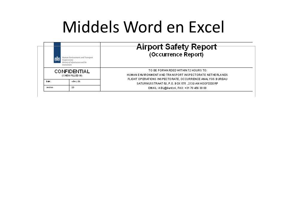 Middels Word en Excel