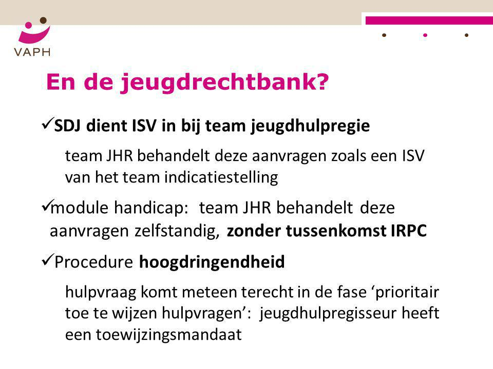 En de jeugdrechtbank SDJ dient ISV in bij team jeugdhulpregie