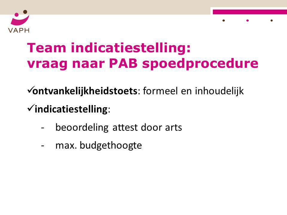 Team indicatiestelling: vraag naar PAB spoedprocedure