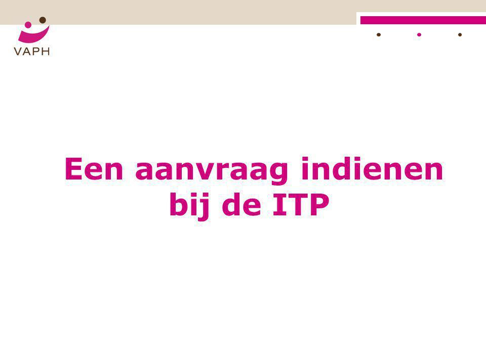 Een aanvraag indienen bij de ITP