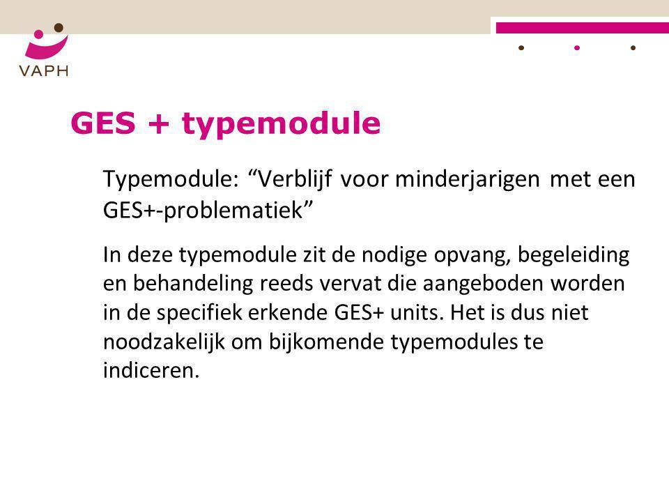 GES + typemodule Typemodule: Verblijf voor minderjarigen met een GES+-problematiek