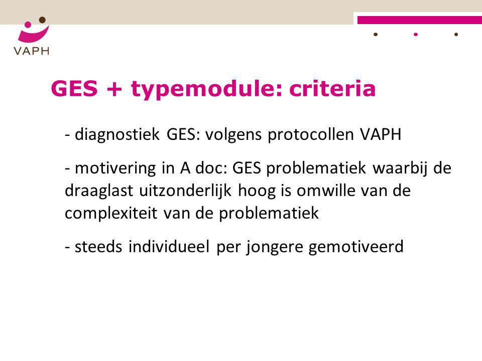 GES + typemodule: criteria