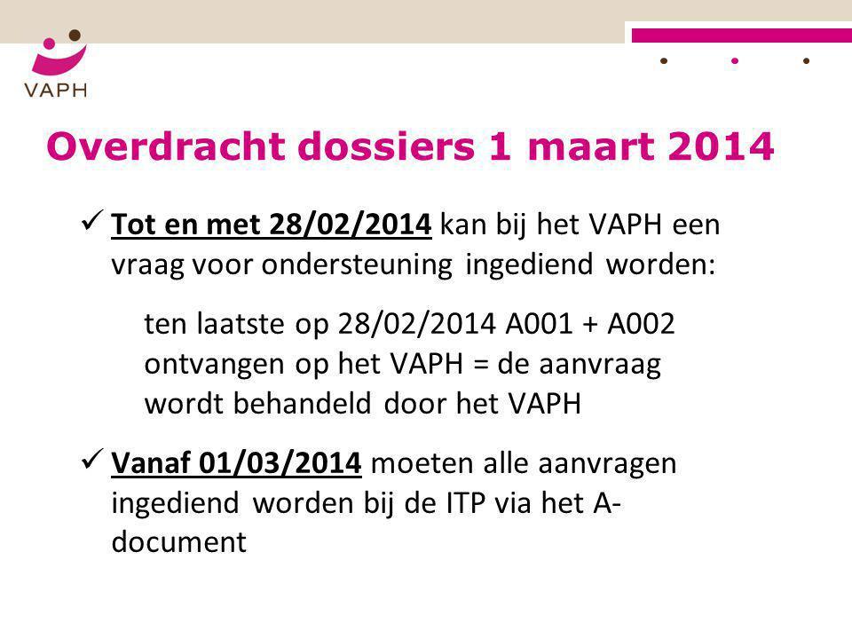 Overdracht dossiers 1 maart 2014